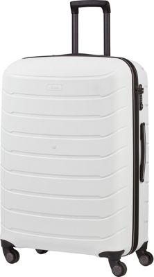 Titan Bags Limit Unbreakable 30 inch Hardside Checked Spinner Luggage White - Titan Bags Large Rolling Luggage