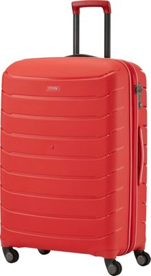 Titan Bags Limit Unbreakable 30 inch Hardside Checked Spinner Luggage Red - Titan Bags Large Rolling Luggage