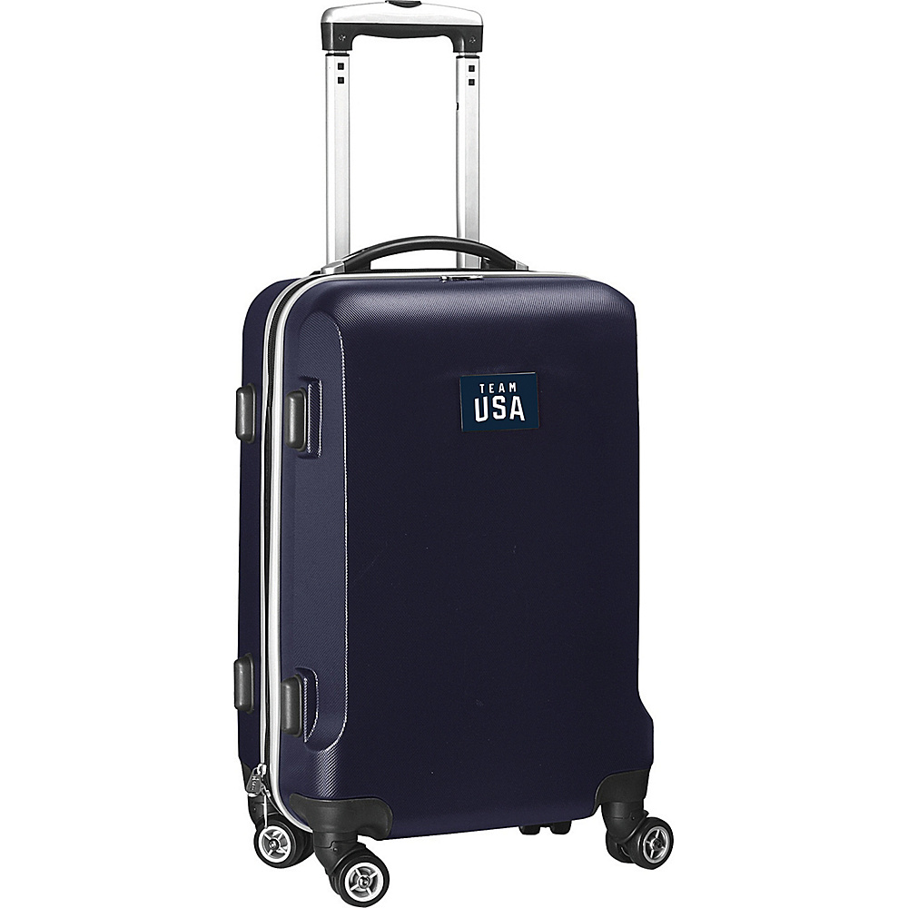 MOJO Denco Team USA Olympics 20 Hardside Carry-On Spinner Luggage Navy - MOJO Denco Kids Luggage - Luggage, Kids' Luggage