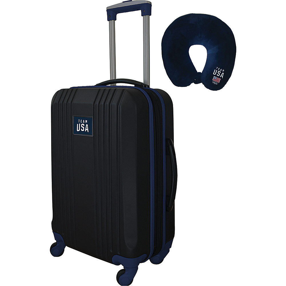 MOJO Denco Team USA Olympics 21 Dual Color Hardside Carry-On Spinner Luggage Navy - MOJO Denco Hardside Carry-On - Luggage, Hardside Carry-On
