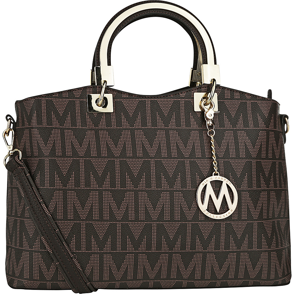 MKF Collection by Mia K. Farrow Galilea M Signature Satchel Chocolate - MKF Collection by Mia K. Farrow Manmade Handbags - Handbags, Manmade Handbags