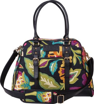 Trend Lab Waverly Carryall Diaper Bag Black, Floral, Taupe - Trend Lab Diaper Bags & Accessories