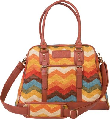 Trend Lab Waverly Carryall Diaper Bag Orange, Brown, Yellow, Cream, Taupe - Trend Lab Diaper Bags & Accessories