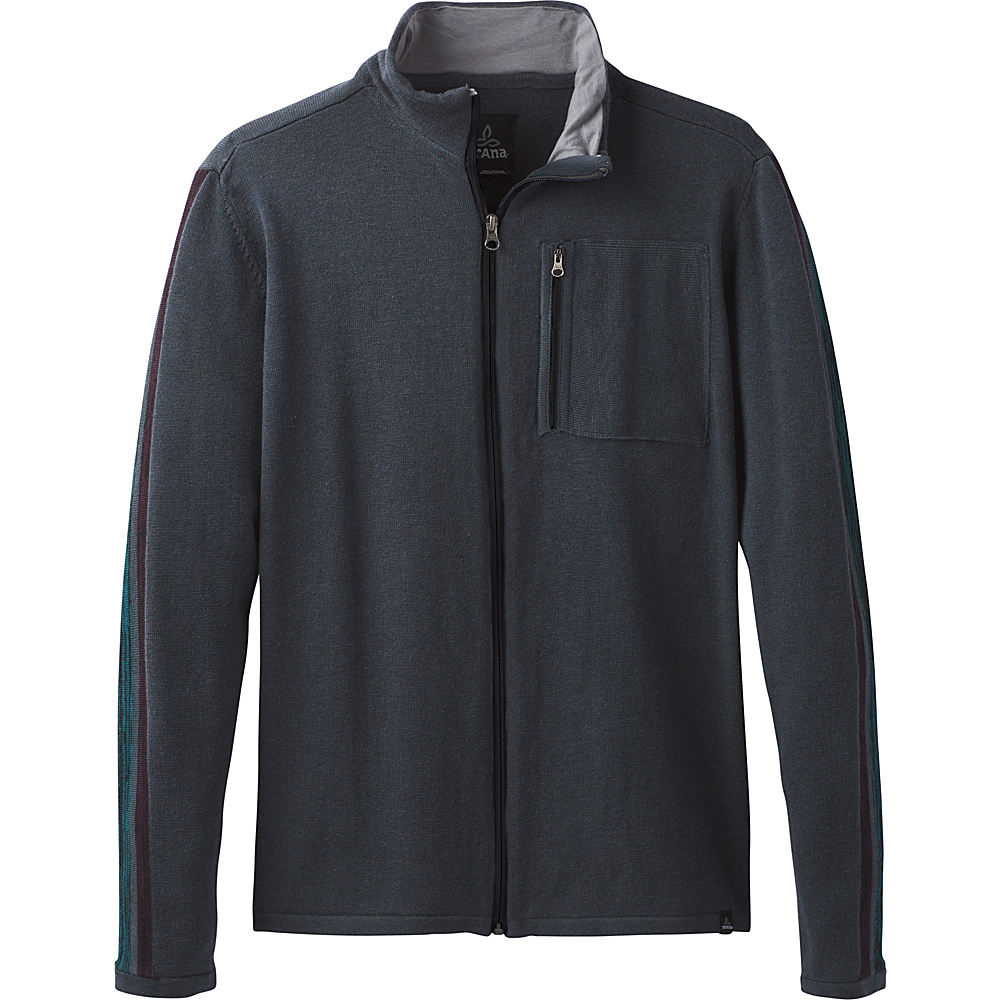 PrAna Holberg Full Zip Sweater M - Coal - PrAna Mens Apparel - Apparel & Footwear, Men's Apparel