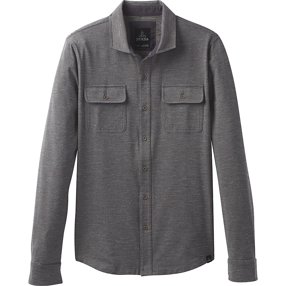 PrAna Pacer Long Sleeve Button Down Shirt S - Charcoal - PrAna Womens Apparel - Apparel & Footwear, Women's Apparel