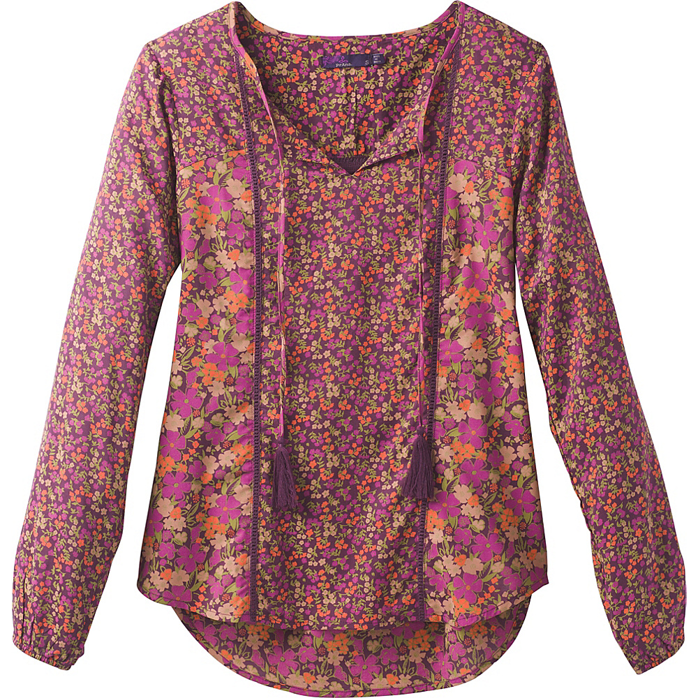 PrAna Faith Top XL - Plum - PrAna Womens Apparel - Apparel & Footwear, Women's Apparel