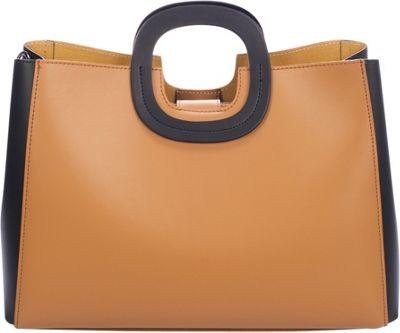 Markese Top Handle Tote Cognac Summer - Markese Leather Handbags