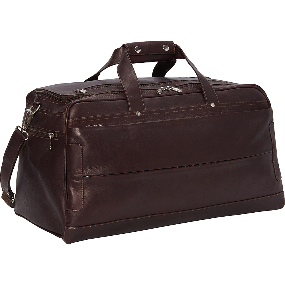 Piel Hidden Pocket Duffel Chocolate - Piel Travel Duffels - Duffels, Travel Duffels