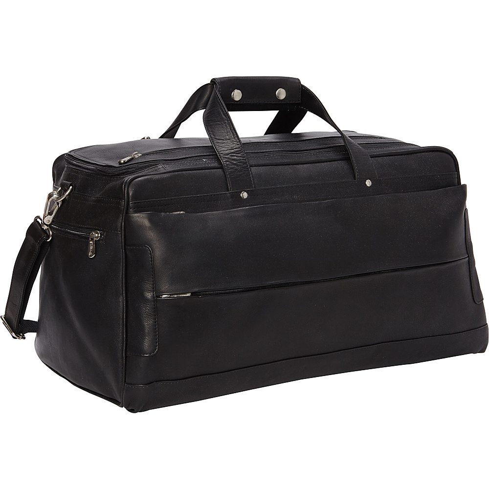 Piel Hidden Pocket Duffel Black - Piel Travel Duffels - Duffels, Travel Duffels