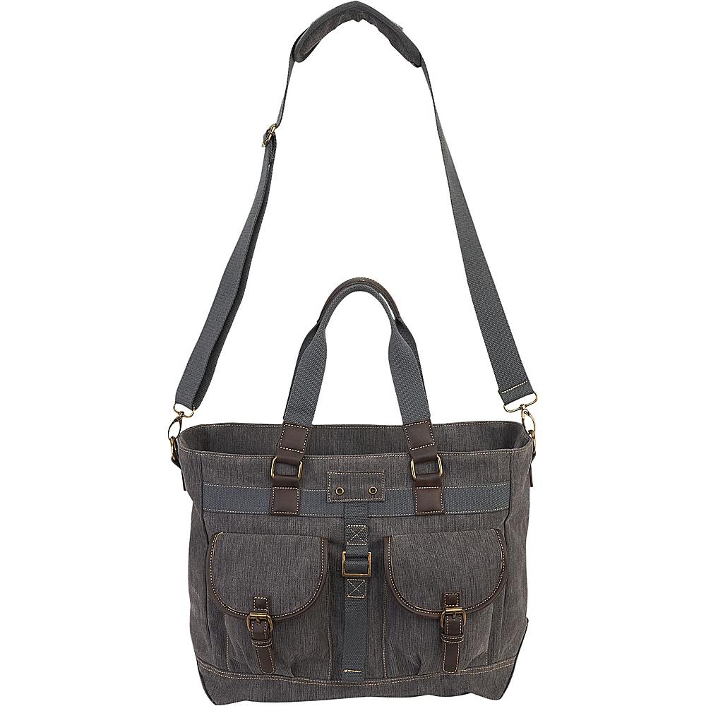 Sun N Sand Baine Shoulder Tote Grey - Sun N Sand Fabric Handbags - Handbags, Fabric Handbags