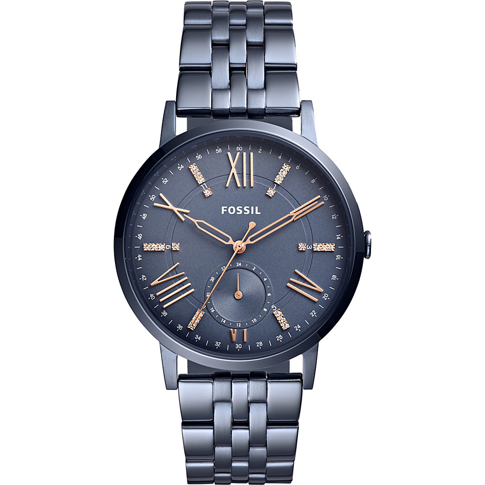 Fossil Gazer Multifunction Blue Stainless Steel Watch Blue - Fossil Watches - Fashion Accessories, Watches