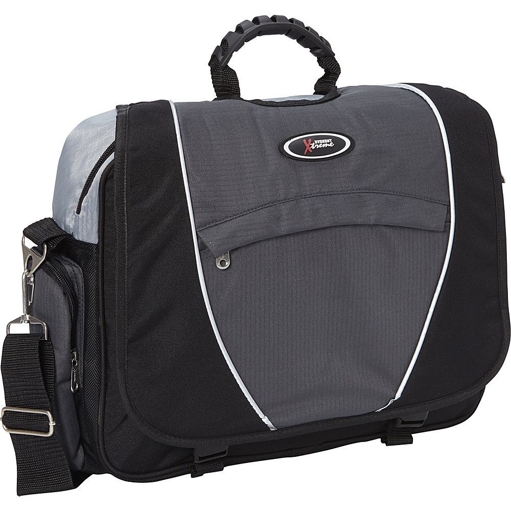 Everest Messenger Laptop Bag Charcoal/Silver/Black - Everest Messenger Bags - Work Bags & Briefcases, Messenger Bags