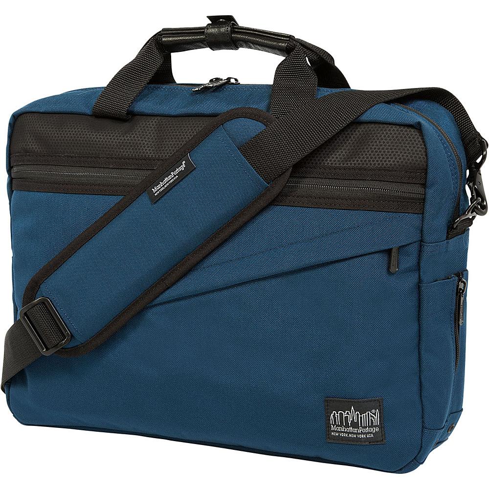 Manhattan Portage Second Avenue Briefcase Navy - Manhattan Portage Designer Handbags - Handbags, Designer Handbags