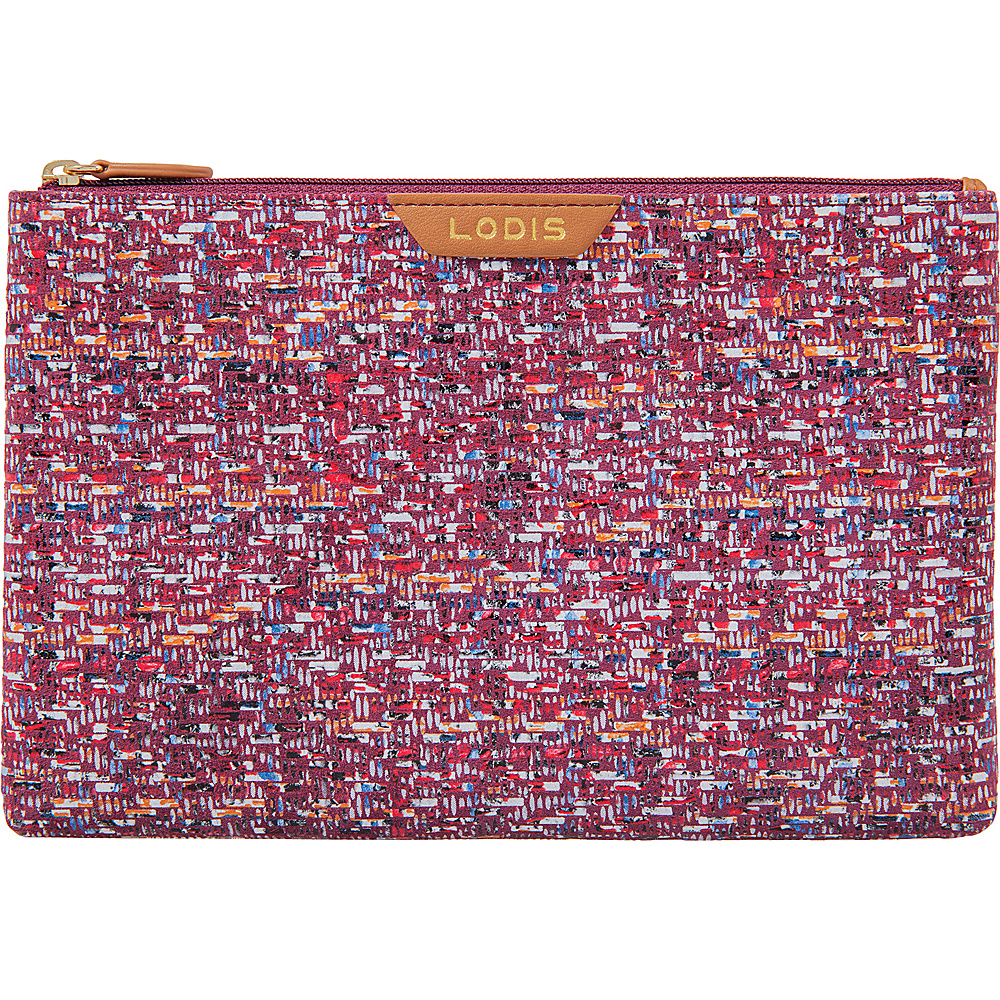 Lodis Tweetable Tweed RFID Flat Pouch Brick - Lodis Womens Wallets - Women's SLG, Women's Wallets