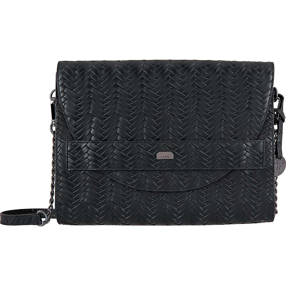Lodis Nova RFID Abella Clutch Crossbody Black - Lodis Leather Handbags - Handbags, Leather Handbags