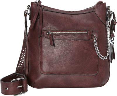 La Diva Rory Crossbody Bordeaux - La Diva Manmade Handbags
