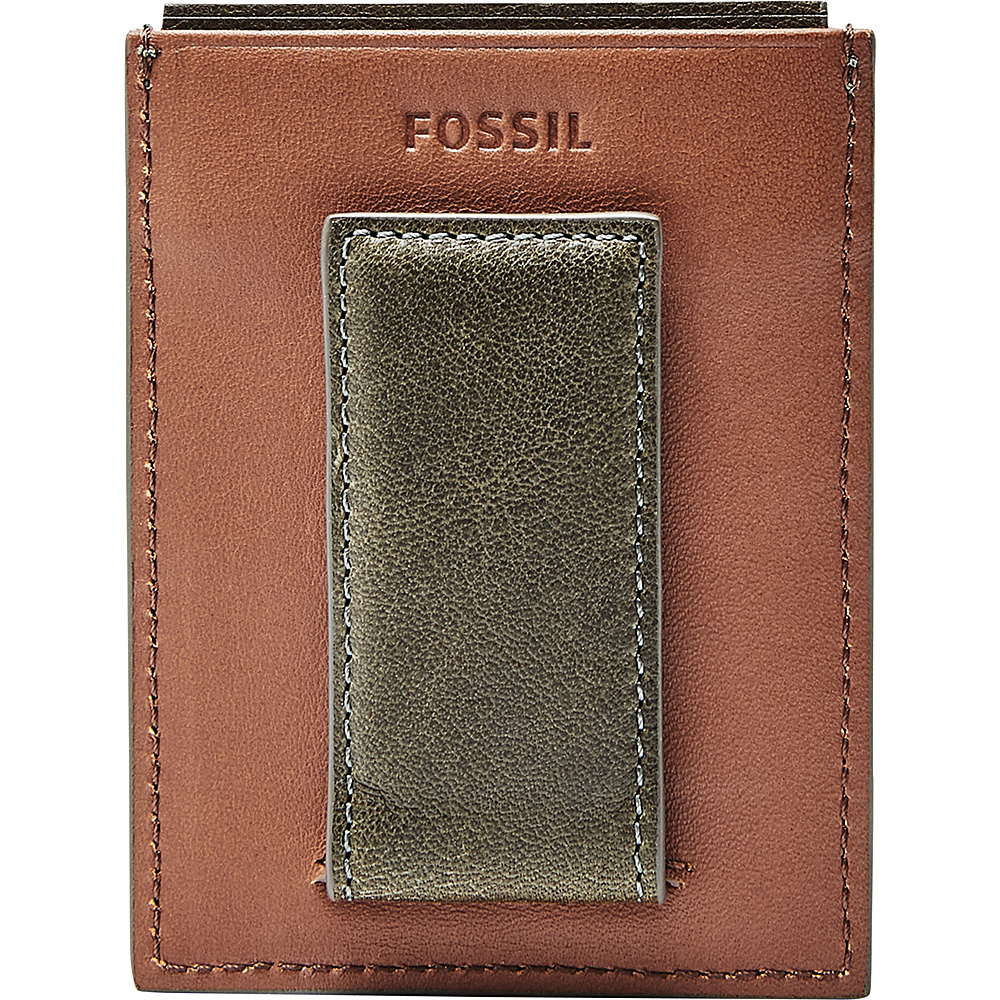 Fossil Ethan RFID Magnetic Card Case Green - Fossil Mens Wallets - Work Bags & Briefcases, Men's Wallets