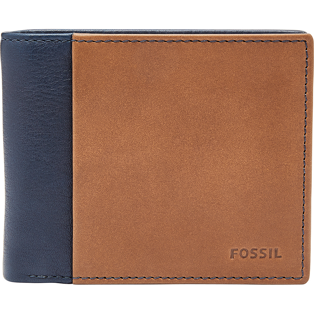 Fossil Ward RFID Flip ID Bifold Navy - Fossil Mens Wallets - Work Bags & Briefcases, Men's Wallets