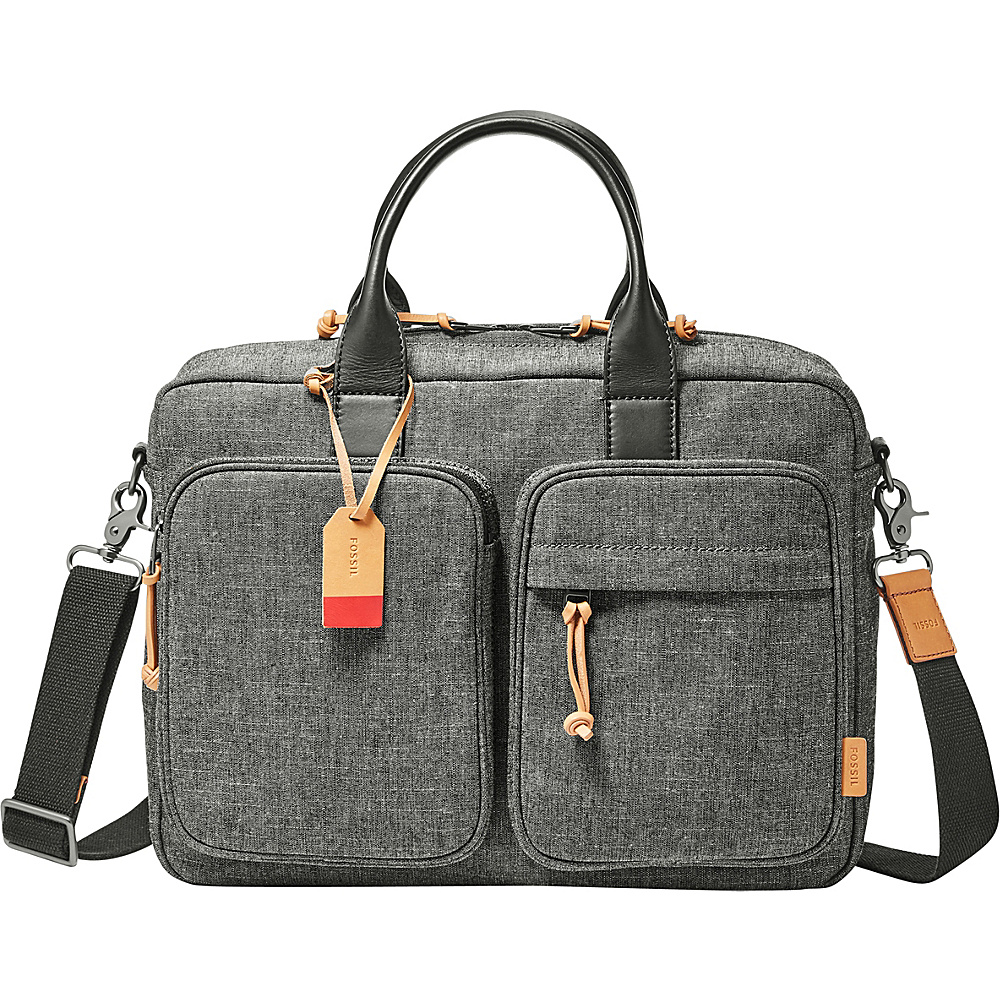 Fossil Defender Top Zip Workbag Grey - Fossil Messenger Bags - Work Bags & Briefcases, Messenger Bags
