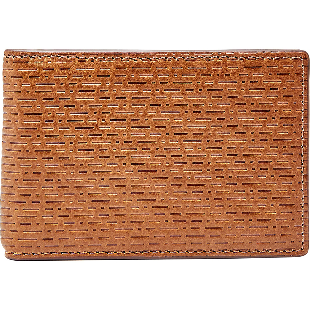 Fossil Coby RFID Money Clip Bifold Cognac - Fossil Mens Wallets - Work Bags & Briefcases, Men's Wallets