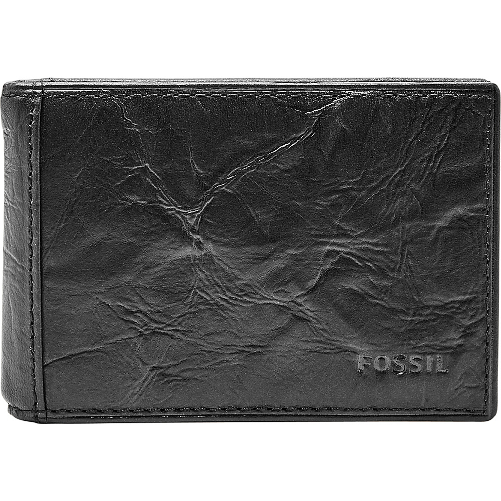 Fossil Neel Money Clip Bifold Black - Fossil Mens Wallets - Work Bags & Briefcases, Men's Wallets