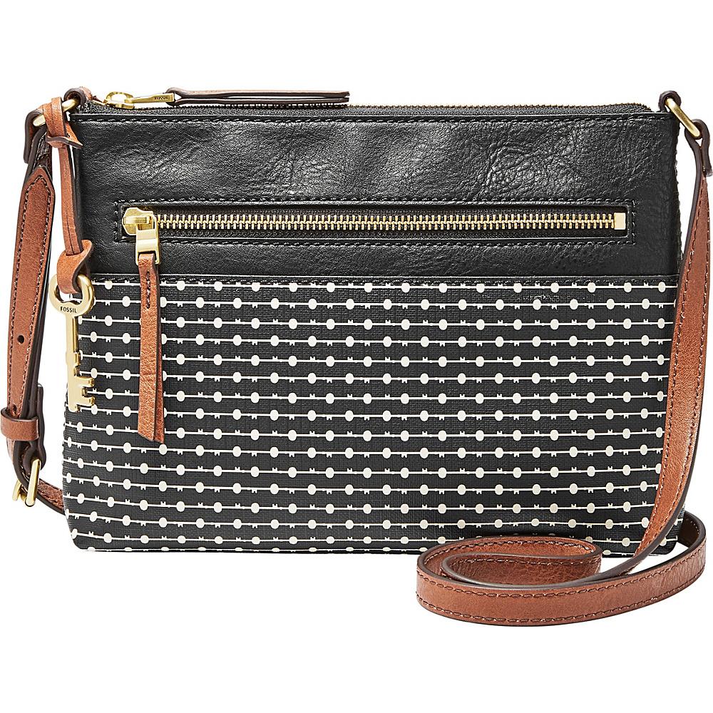 Fossil Fiona Crossbody Black - Fossil Manmade Handbags - Handbags, Manmade Handbags