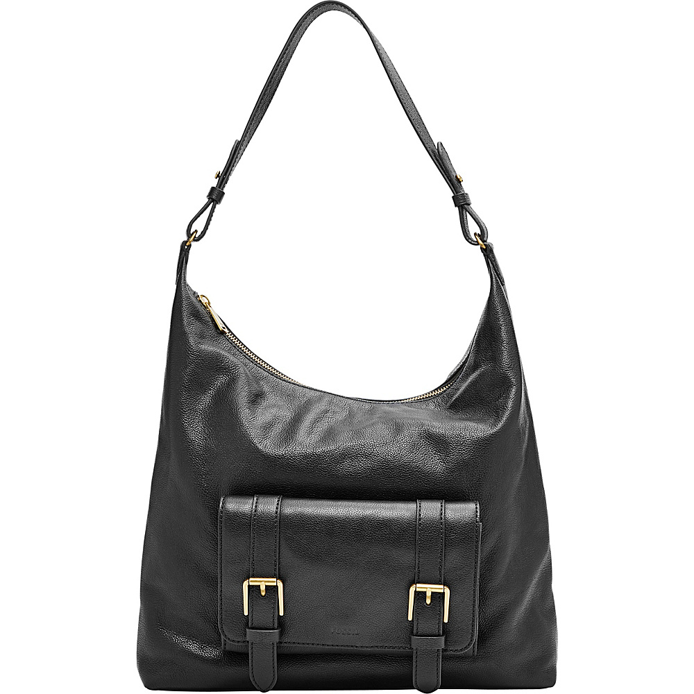 Fossil Cleo Hobo Black - Fossil Leather Handbags - Handbags, Leather Handbags