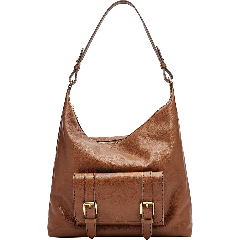 Fossil Cleo Hobo Brown - Fossil Leather Handbags - Handbags, Leather Handbags