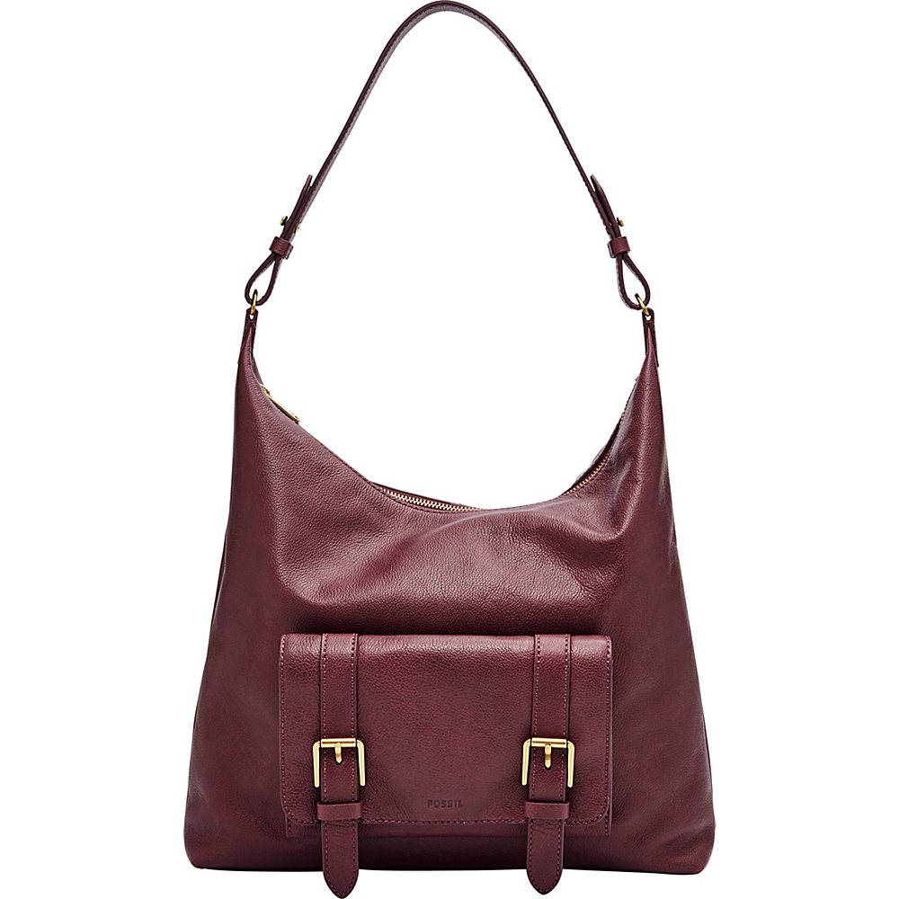 Fossil Cleo Hobo Red(607) - Fossil Leather Handbags - Handbags, Leather Handbags