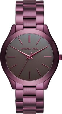 Michael Kors Watches Slim Runway Three-Hand Watch Plum - Michael Kors Watches Watches