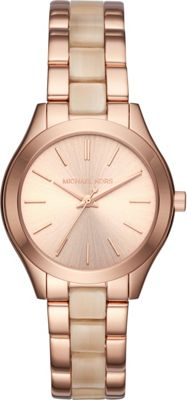 Michael Kors Watches Mini Slim Runway Three-Hand Watch Rose Gold - Michael Kors Watches Watches