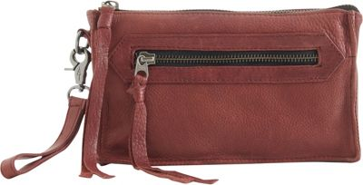 Day & Mood Anni Clutch Rusty Red - Day & Mood Leather Handbags