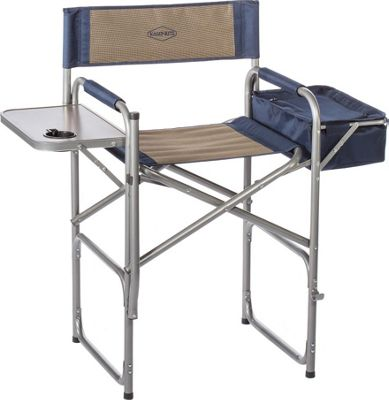 Kamp Rite Kamp Rite The High Back Director's Chair with Side Table and Cooler Blue / Khaki - Kamp Rite Outdoor Accessories