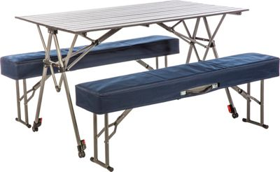 Kamp Rite Kwik Set Table and Benches Grey/Blue - Kamp Rite Outdoor Accessories