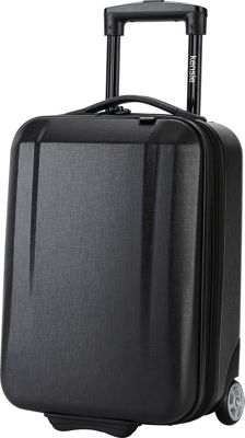 Kensie Luggage 17 inch Hardside Underseater Carry-On Black - Kensie Luggage Hardside Carry-On