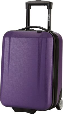 Kensie Luggage 17 inch Hardside Underseater Carry-On Purple - Kensie Luggage Hardside Carry-On