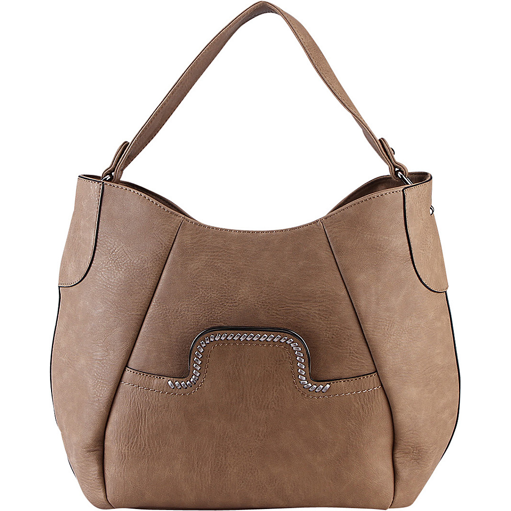 MKF Collection by Mia K. Farrow Martha Shoulder Bag Khaki - MKF Collection by Mia K. Farrow Manmade Handbags - Handbags, Manmade Handbags