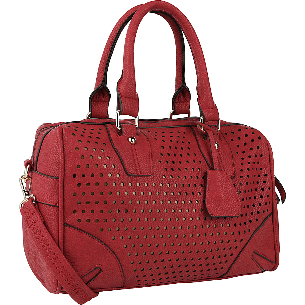 MKF Collection by Mia K. Farrow Kia Satchel Red - MKF Collection by Mia K. Farrow Manmade Handbags - Handbags, Manmade Handbags
