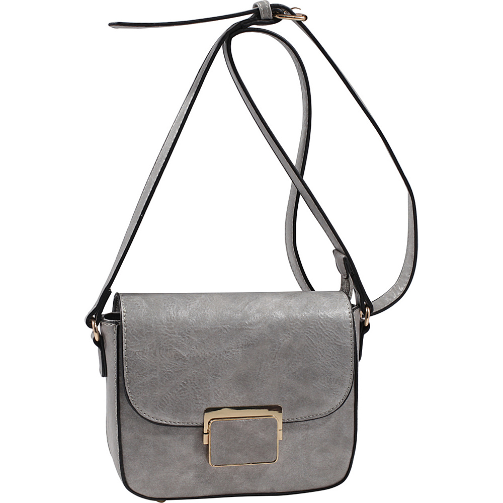 MKF Collection by Mia K. Farrow Winslet Crossbody Pewter - MKF Collection by Mia K. Farrow Manmade Handbags - Handbags, Manmade Handbags