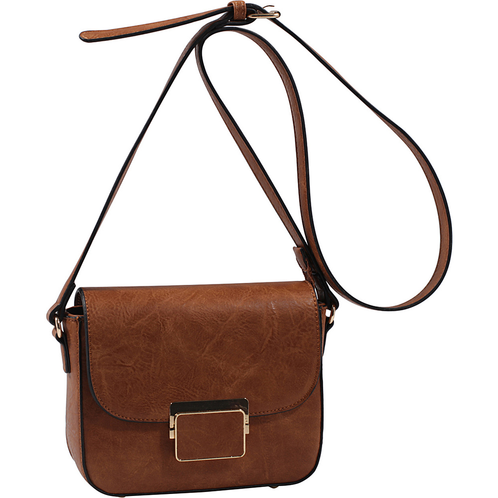 MKF Collection by Mia K. Farrow Winslet Crossbody Brown - MKF Collection by Mia K. Farrow Manmade Handbags - Handbags, Manmade Handbags