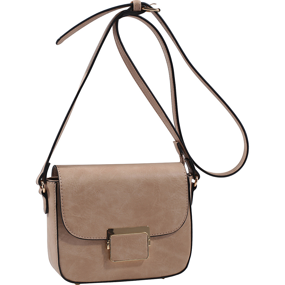 MKF Collection by Mia K. Farrow Winslet Crossbody Light Taupe - MKF Collection by Mia K. Farrow Manmade Handbags - Handbags, Manmade Handbags