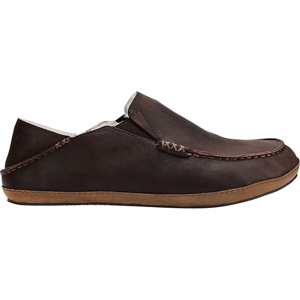 OluKai Mens Moloa Slipper 7 - Dark Wood/Dark Wood - OluKai Mens Footwear - Apparel & Footwear, Men's Footwear