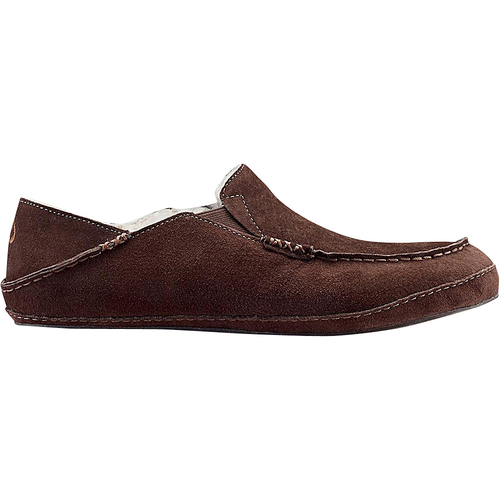 OluKai Mens Moloa Slipper 8 - Dark Java/Dark Java - OluKai Mens Footwear - Apparel & Footwear, Men's Footwear