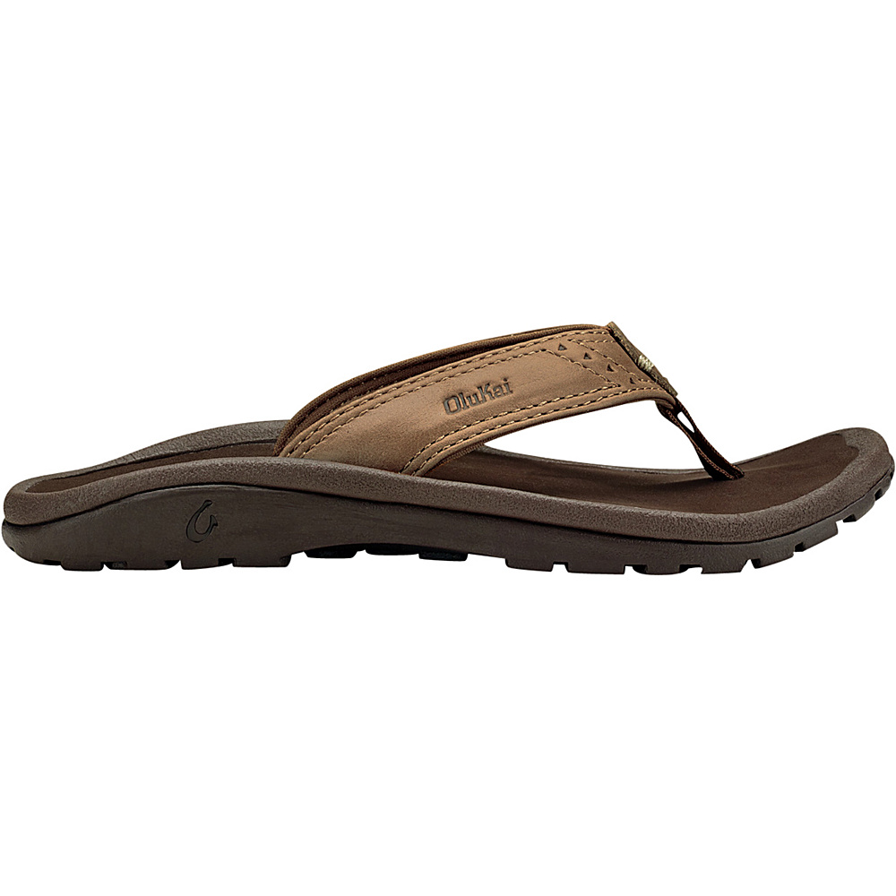 OluKai Boys Nui Sandal XS (US Kids) - Tan/Dark Java - OluKai Mens Footwear - Apparel & Footwear, Men's Footwear