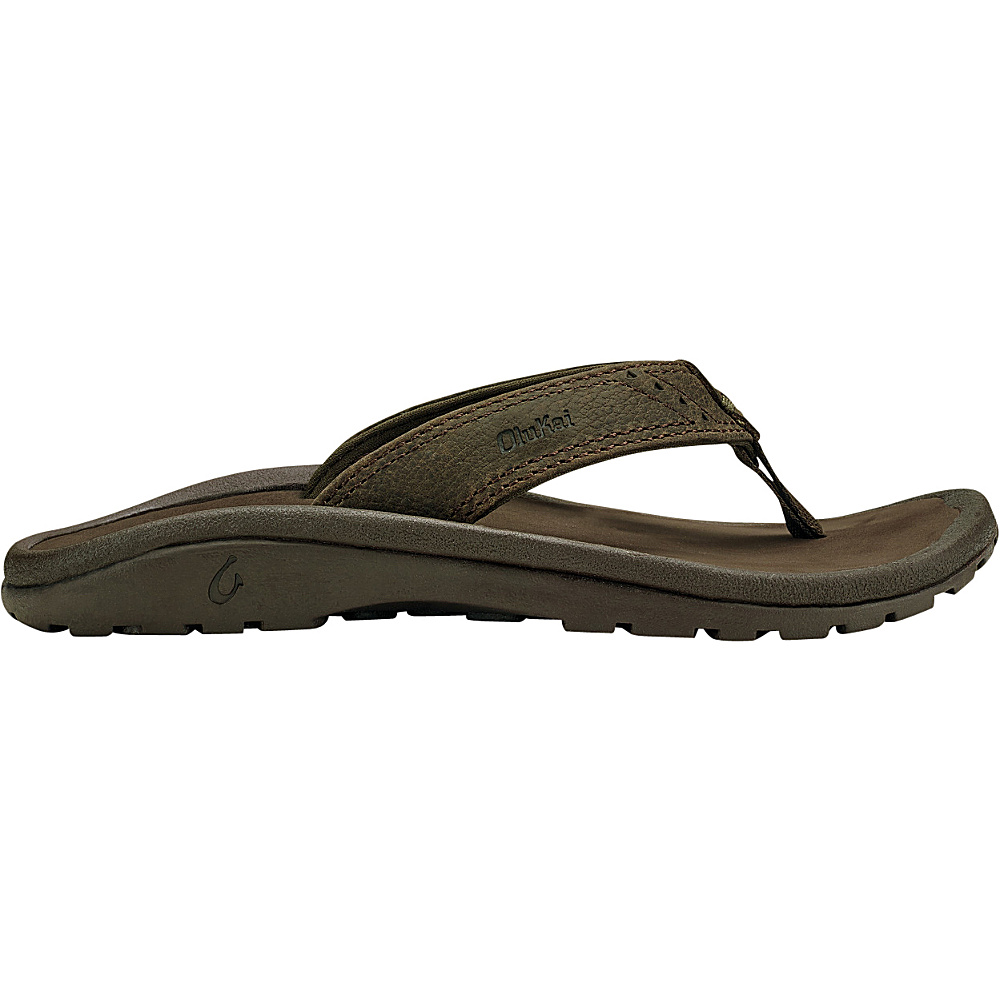 OluKai Boys Nui Sandal S (US Kids) - Seal Brown/Dark Java - OluKai Mens Footwear - Apparel & Footwear, Men's Footwear