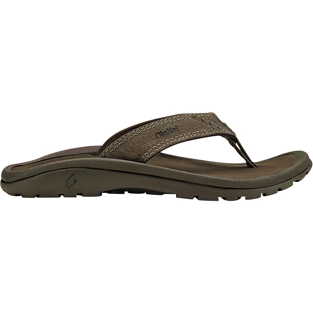 OluKai Boys Nui Sandal XS (US Kids) - Clay/Dark Java - OluKai Mens Footwear - Apparel & Footwear, Men's Footwear