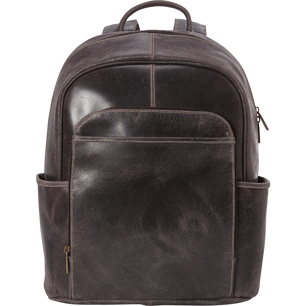 Le Donne Leather Distressed Renegade Backpack Chocolate - Le Donne Leather Laptop Backpacks - Backpacks, Laptop Backpacks