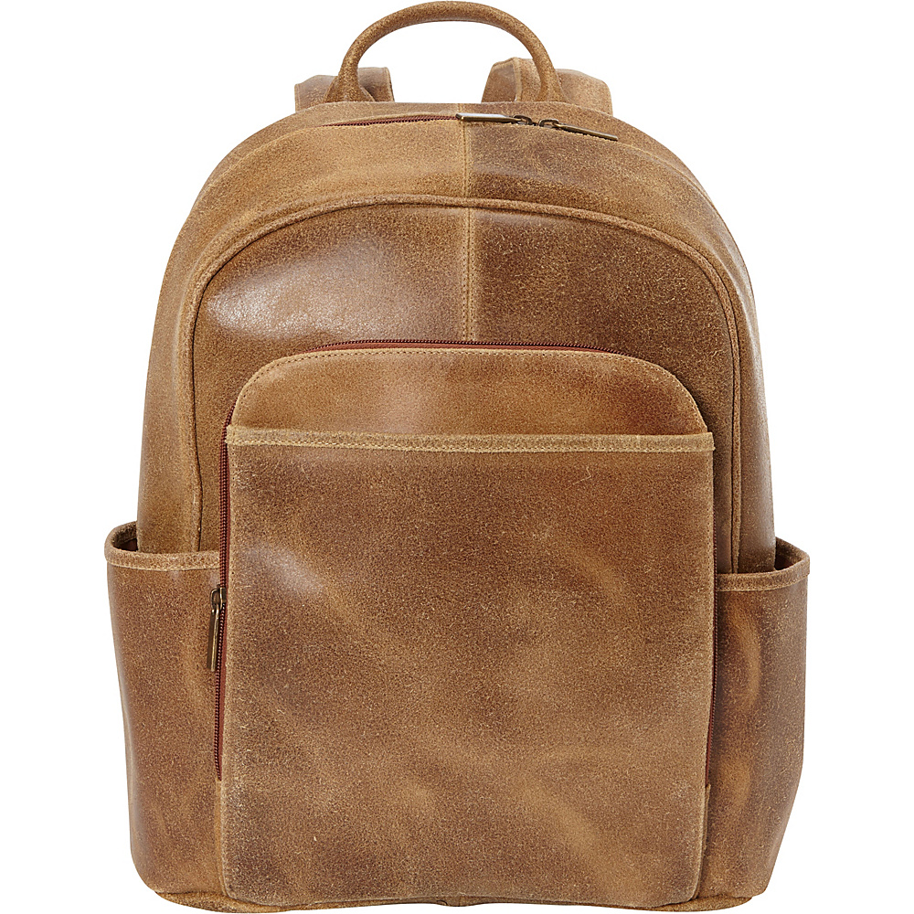 Le Donne Leather Distressed Renegade Backpack Tan - Le Donne Leather Laptop Backpacks - Backpacks, Laptop Backpacks