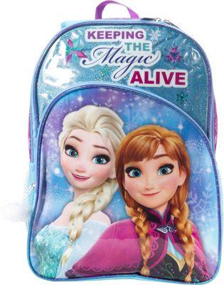 Disney Frozen Backpack with Pom Pom Zip Dangle Blue - Disney Kids' Backpacks
