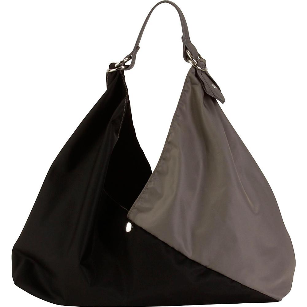 Hadaki Small Origami Tote Falcon/Black - Hadaki Leather Handbags - Handbags, Leather Handbags